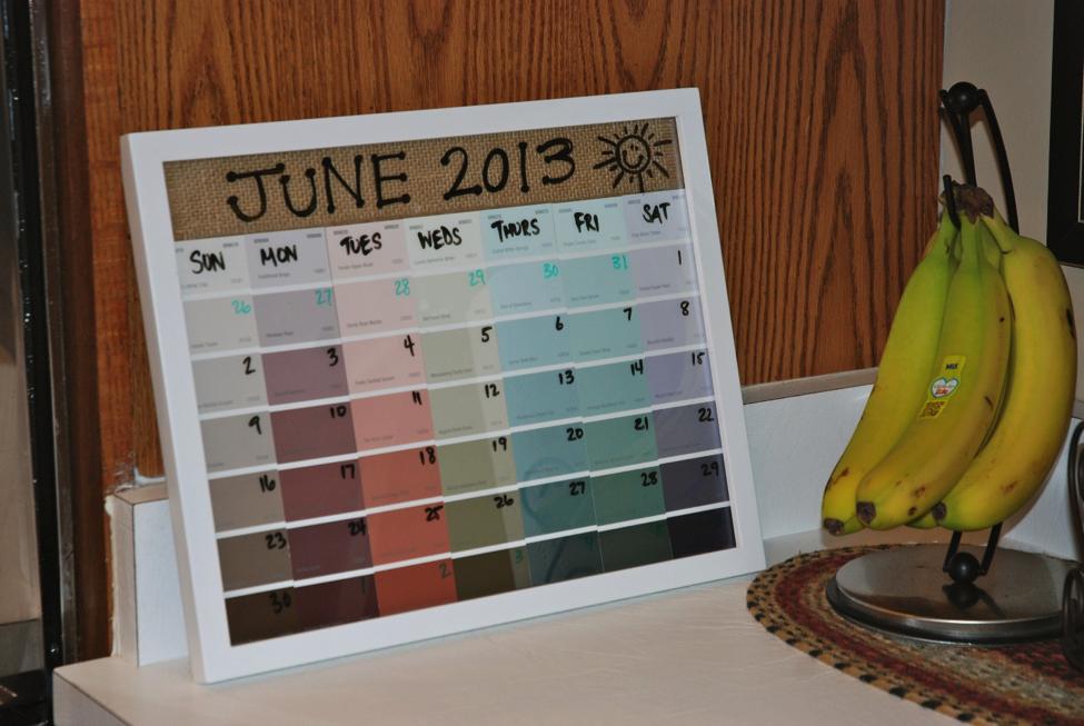 Holiday Calendar Craft